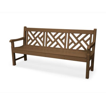 "Rockford 72"" Chippendale Bench in Teak"