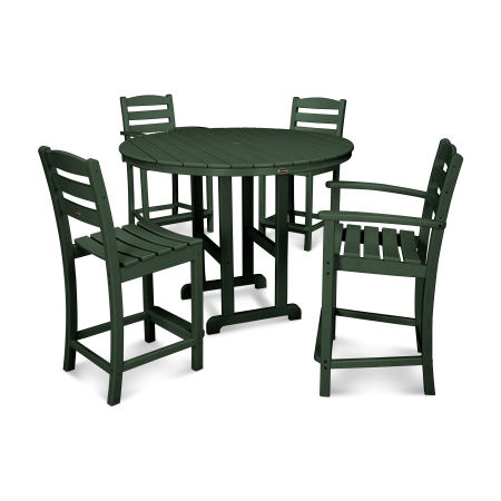 La Casa 5-Piece Counter Dining Set in Green