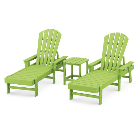 South Beach Chaise 3-Piece Set in Lime