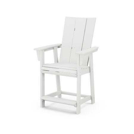 Modern Adirondack Counter Chair in White