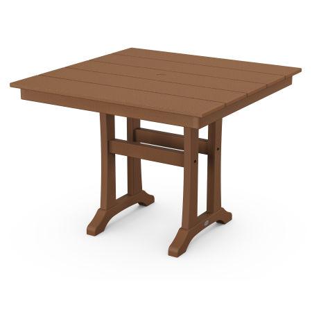 "Farmhouse Trestle 37"" Dining Table in Teak"