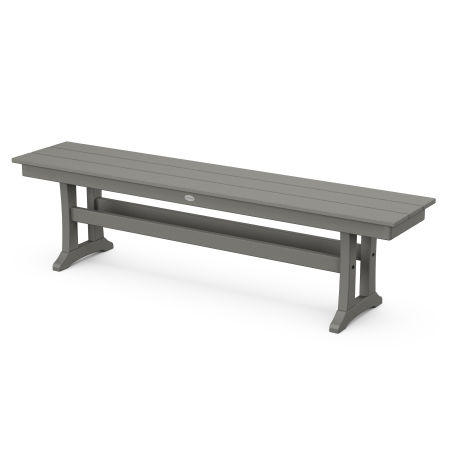 "Farmhouse 65"" Bench in Slate Grey"