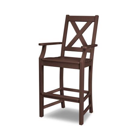 Braxton Bar Arm Chair in Mahogany
