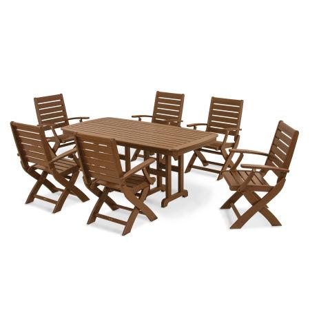 Signature 7-Piece Dining Set in Teak