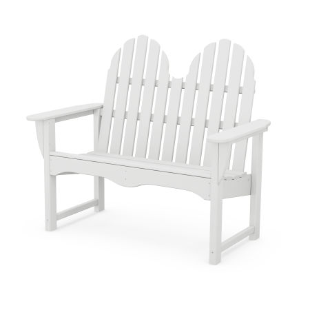 "Classic Adirondack 48"" Bench in White"