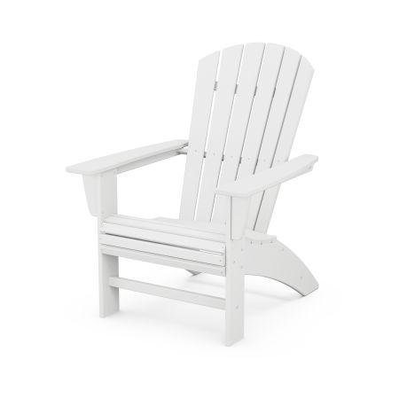 Nautical Curveback Adirondack Chair in White