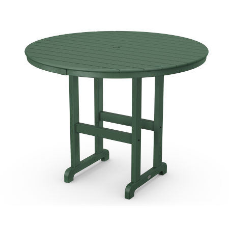 """Round 48"""" Counter Table in Green"""