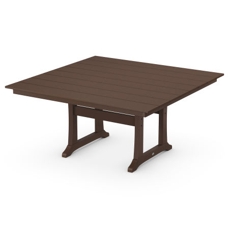 """59"""" Square Dining Table in Mahogany"""