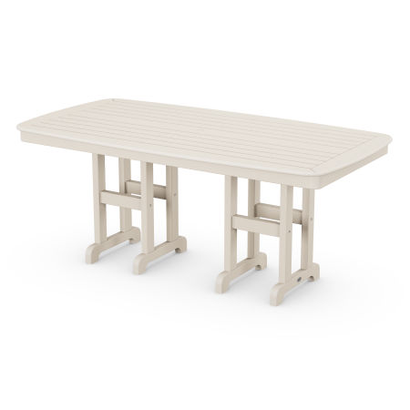 """Nautical 37"""" x 72"""" Dining Table in Sand"""
