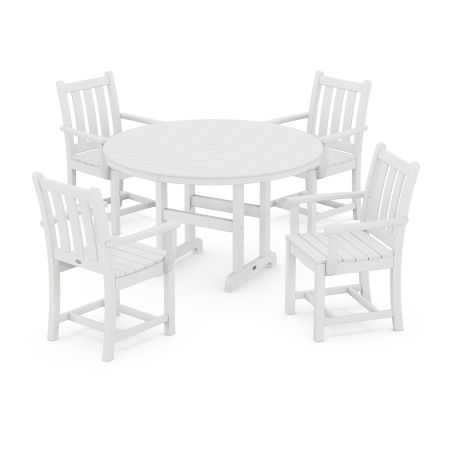 Traditional Garden 5-Piece Dining Set in White