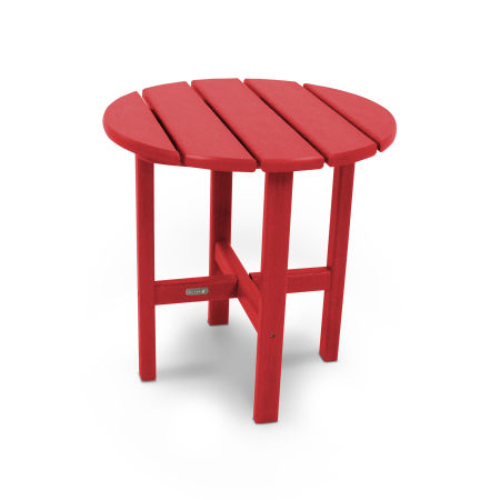 """18"""" Round Side Table by Ivy Terrace™ in Sunset Red"""