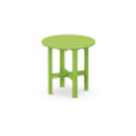 """Round 18"""" Side Table in Lime"""