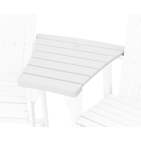 600 Series Angled Adirondack Dining Connecting Table in White