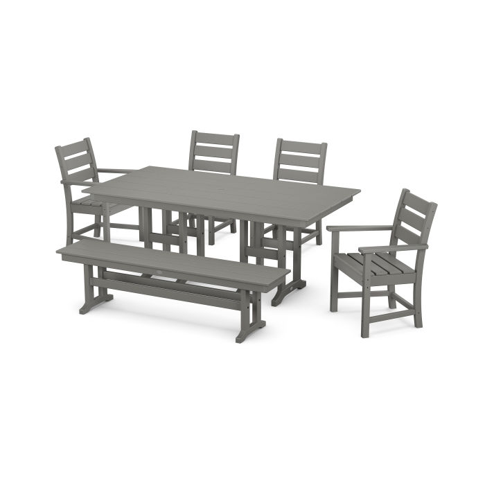 Grant Park 6-Piece Farmhouse Dining Set with Bench