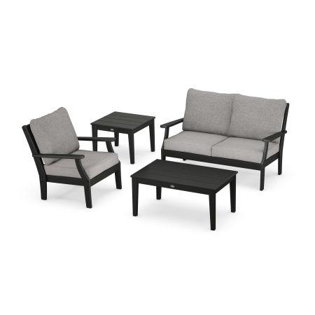 Braxton 4-Piece Deep Seating Set in Black / Grey Mist
