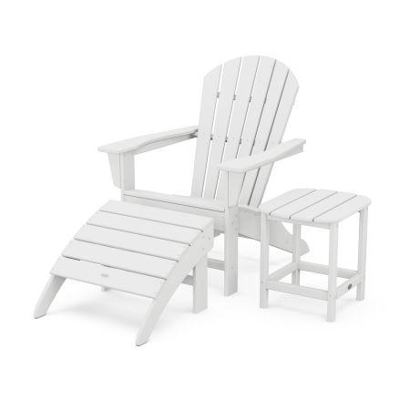 South Beach Adirondack 3-Piece Set in White