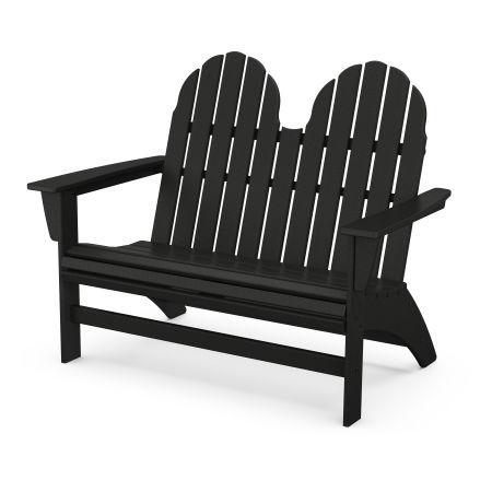 Vineyard Adirondack Bench in Black