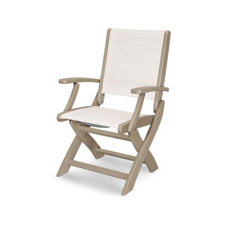 Coastal Folding Chair in Vintage Sahara / Parchment Sling