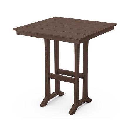 """37"""" Bar Table in Mahogany"""