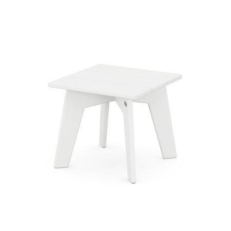 Riviera Modern Side Table in White