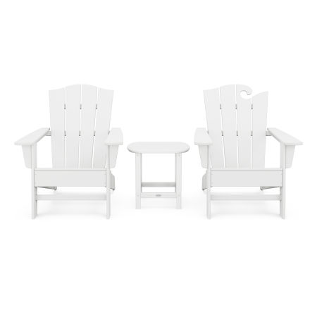 Wave Collection 3-Piece Set in White