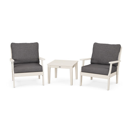 Braxton 3-Piece Deep Seating Set in Sand / Ash Charcoal