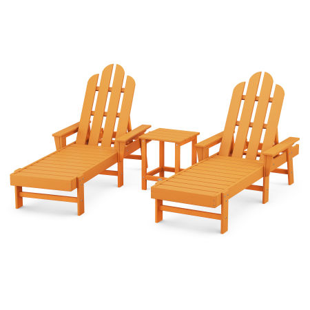 Long Island Chaise 3-Piece Set in Tangerine