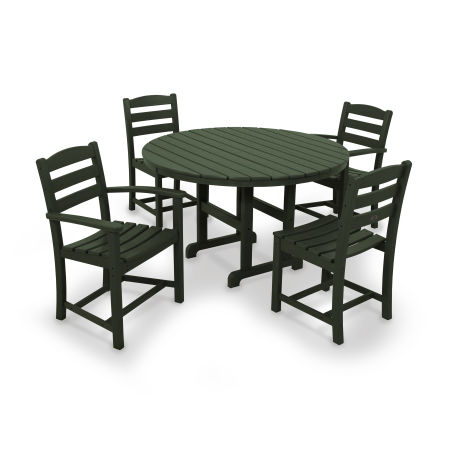 La Casa Café 5-Piece Dining Set in Green