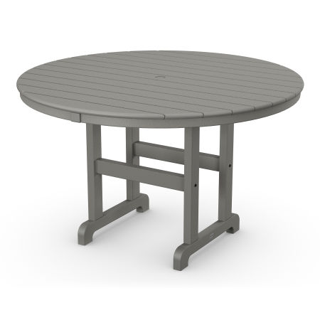 "Round 48"" Dining Table in Slate Grey"