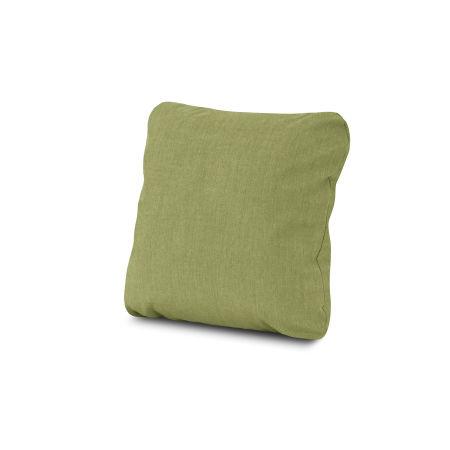 """18"""" Outdoor Throw Pillow in Cast Moss"""