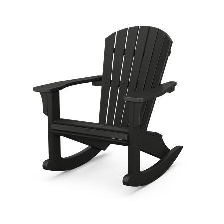 Seashell Rocking Chair in Black