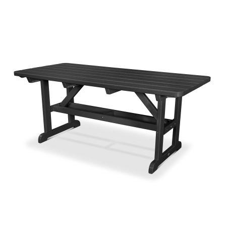 """Park 33"""" x 70"""" Picnic Table in Black"""