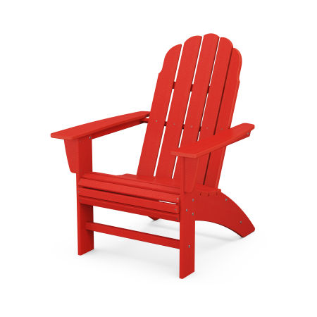 Vineyard Curveback Adirondack Chair in Sunset Red