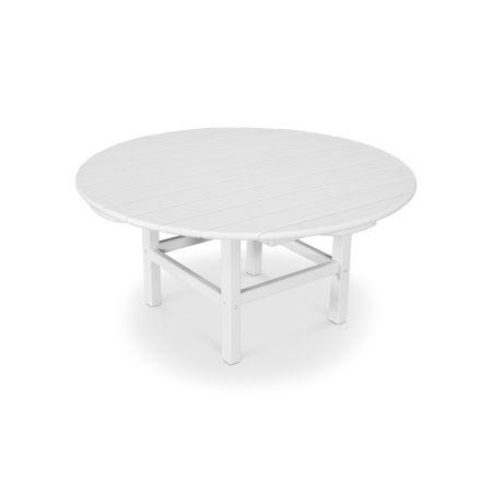 "Round 38"" Conversation Table in Vintage White"