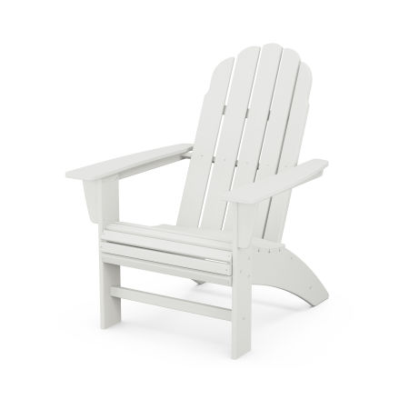 Vineyard Curveback Adirondack Chair in Vintage White