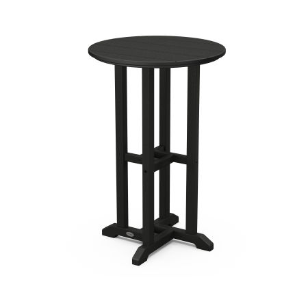 """Traditional 24"""" Round Counter Table in Black"""