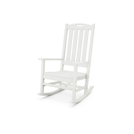 Nautical Porch Rocking Chair in Vintage White