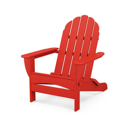 Classic Oversized Curveback Adirondack in Sunset Red