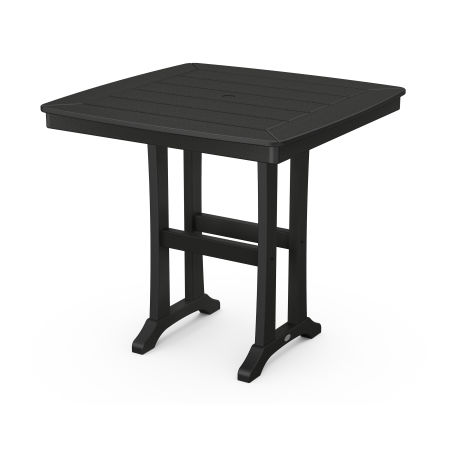 """Nautical Trestle 37"""" Counter Table in Black"""