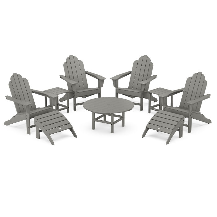 Long Island Adirondack 9-Piece Conversation Group