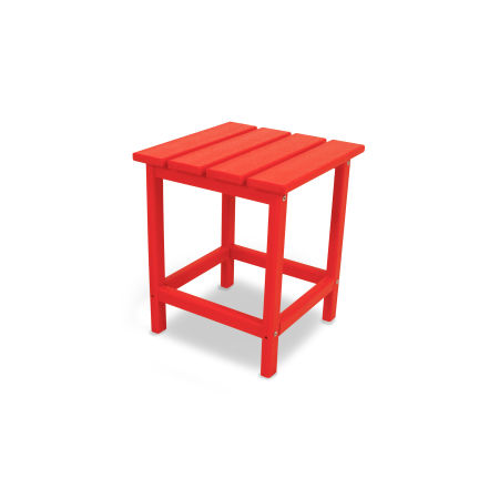 "Long Island 18"" Side Table in Sunset Red"