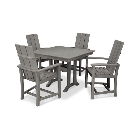 Modern Adirondack 5-Piece Farmhouse Trestle Dining Set