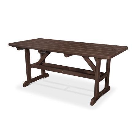 """Park 33"""" x 70"""" Picnic Table in Mahogany"""