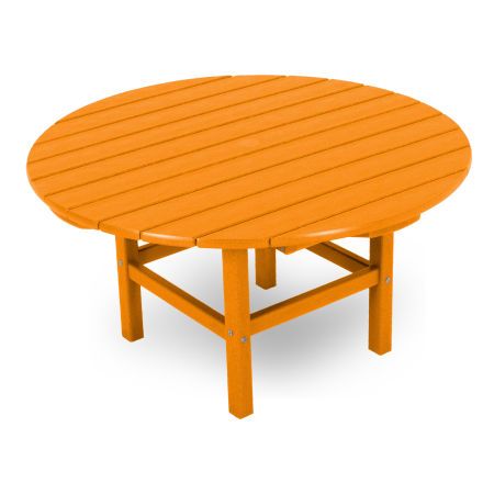 """Round 38"""" Conversation Table by Ivy Terrace in Tangerine"""