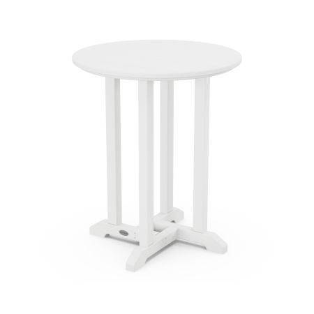 "24"" Round Dining Table in White"