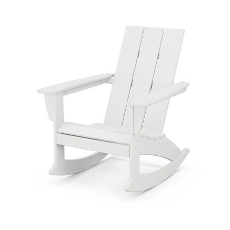 Modern Adirondack Rocking Chair in White