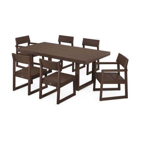 EDGE 7-Piece Dining Set in Mahogany
