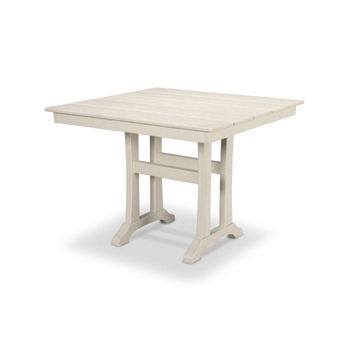 """Farmhouse Trestle 37"""" Dining Table"""