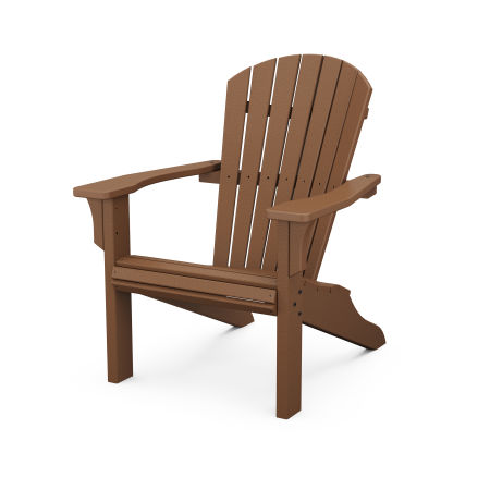 Seashell Adirondack in Teak