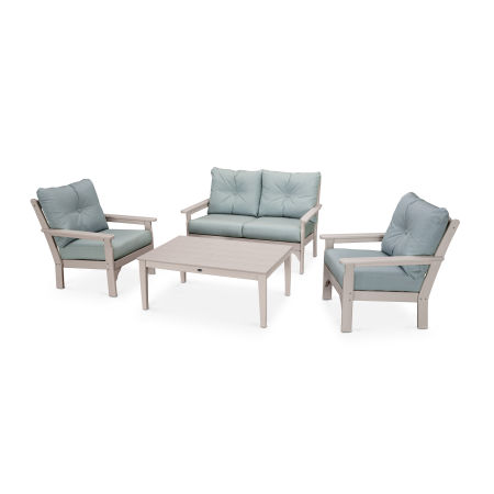 Vineyard 4-Piece Deep Seating Set in Sand / Spa